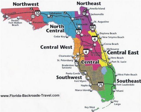 There are 200 Florida day trips and one tank trips on this web page and 61 maps.  Many are in Old Florida.