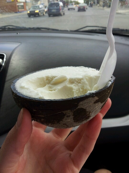 Coconut Sorbet. In The Coconut Shell!