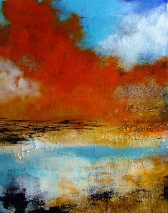 Les 25 meilleures id es concernant paysages abstraits sur pinterest peinture abstraite de - Paysage peinture facile ...