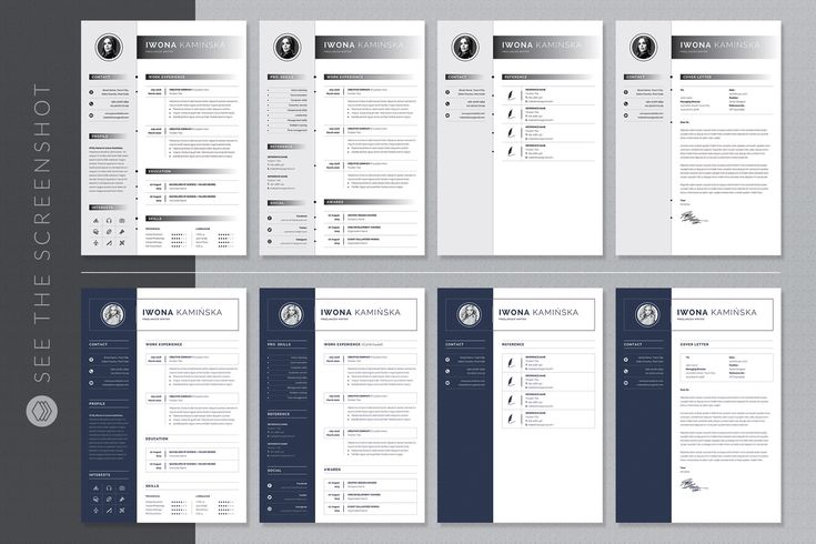 Ad ms word resume bundle by whitegraphic on