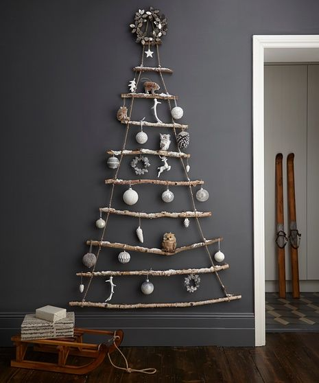 Rustic treescape Christmas decorations