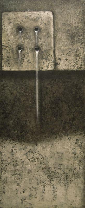 Umor III - oli and acrylic on wood - 107x39,5cm - 2010 - Alessio Pierro