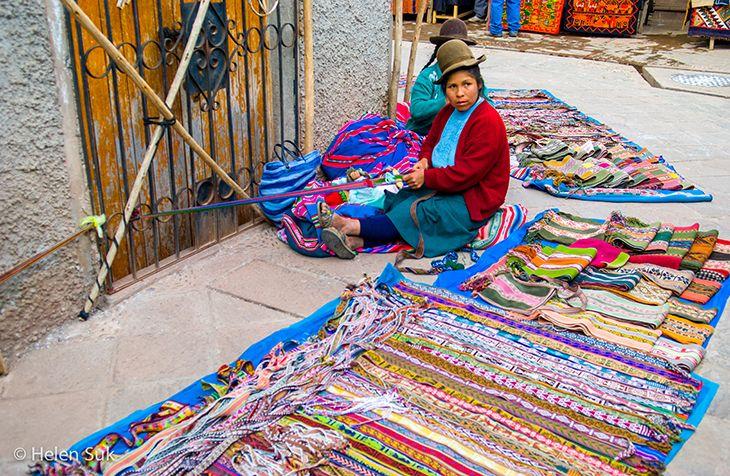 Shopping in Pisac, Peru.