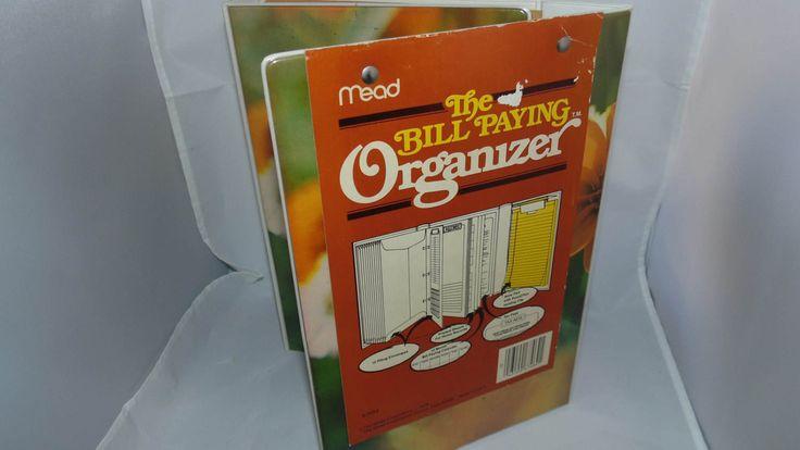 Vintage 1978 Mead Bill paying organizer Binder office organization by AltmodischVintage on Etsy