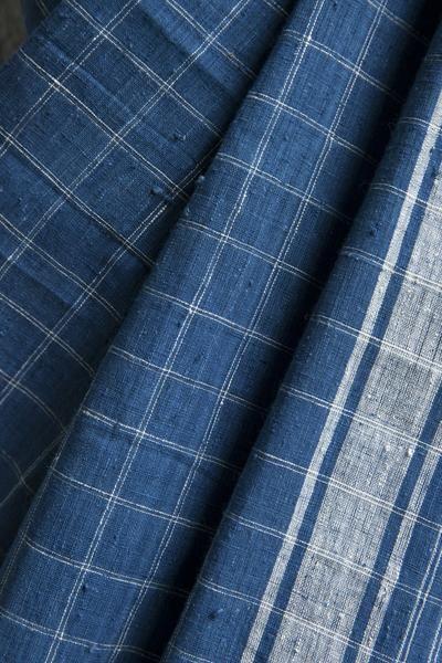 #Indigo #Rumal #Saree #handwoven #checkered #malkha #cotton