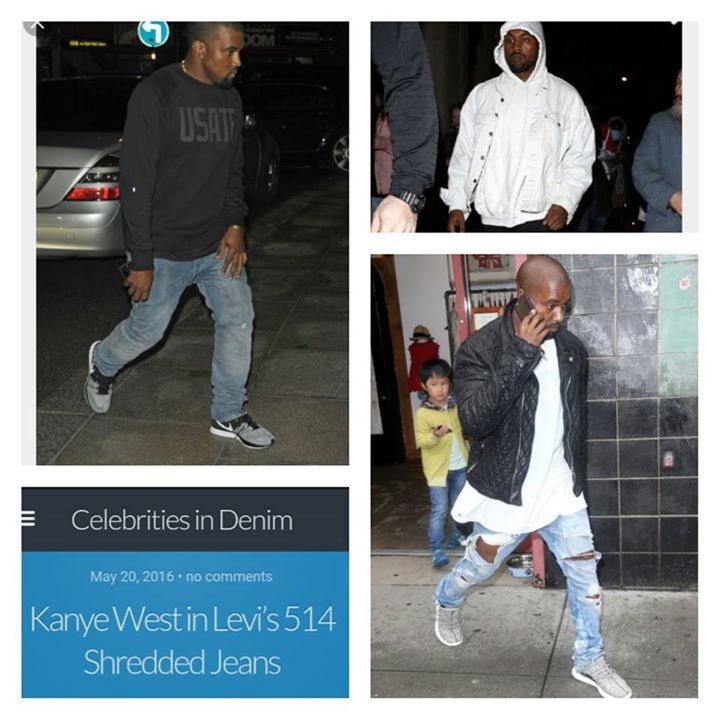 Kanye West spotted in customized levis jeans & jackets. Authorised retailer of Levis Jeans in Greece. Shipping to Europe. - http://ift.tt/1OctV4n #denimlounge #jeans #sneakers #accessories online shop located in #Ioannina #Greece
