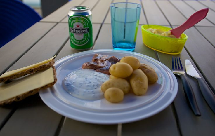Swedish Midsommar Dinner - Wasa bread, cheese and beer is a must!