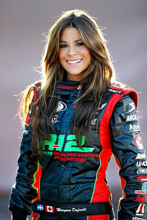 Maryeve Dufault - professional race car driver and Maxim model. Wish I could say we were related!!! :O)