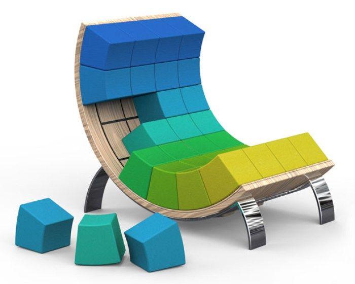 Ego un fauteuil ergonomique très coloré byVasil Velchev