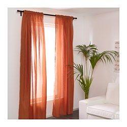 IKEA - VIVAN, Gardinenpaar, , Die transparenten Gardinen sind perfekt für Fensterdekoration in mehreren Lagen, da sie das Tageslicht sanft filtern.Für Gardinenstange oder -schiene geeignet.Mit Gardinenband; lässt sich kombiniert mit RIKTIG Haken einfach in effektvolle Falten legen.Gardinen können direkt an den verdeckten Schlaufen oder mit Ringen und Haken an einer Gardinenstange aufgehängt werden.