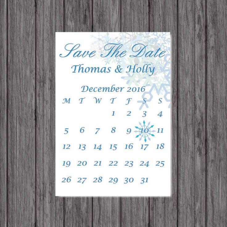 Save the Date Cards, Personalised, Winter Wedding, Hand Finished by LoobyDooLetters on Etsy