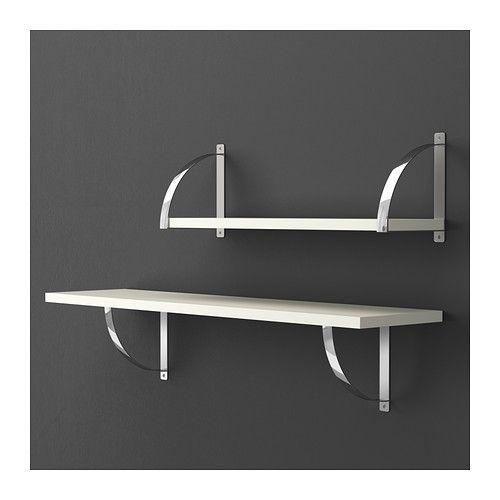 EKBY ROBERT Bracket IKEA Reversible – fits both 19 and 28 cm deep shelves. Shelf brackets for steel kitchen shelves