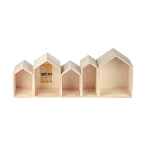 5 maisons - étagères - Collection Cultura Idée cartonnage flo