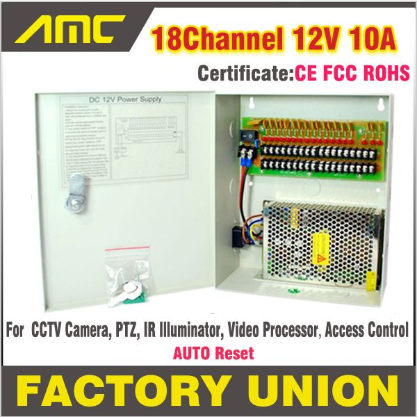 High Quality CE RoHS Certification CCTV power supply box 18Channel 12V 10A for 18 CH DVR CCTV Camera Access Control power supply #Affiliate