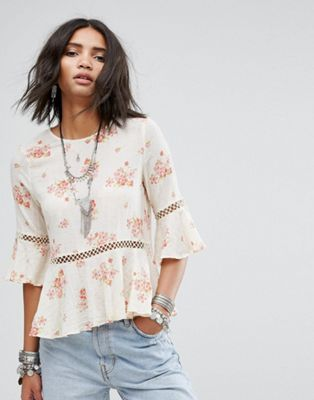 Denim & Supply by Ralph Lauren - Top peplo con stampa floreale