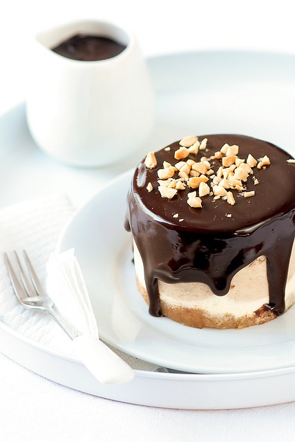 Peanut Butter & Chocolate Cheesecake by tartelette