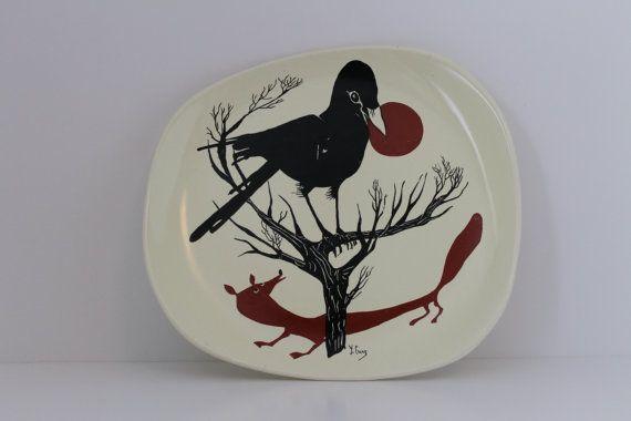 """FRENCH """"SALINS"""" CERAMIC PLATE , chez https://www.etsy.com/fr/listing/233835798/francais-decoratifs-sur-plaque-le #latelierdenanah #etsyshop #vintageplate #salins #soldout"""