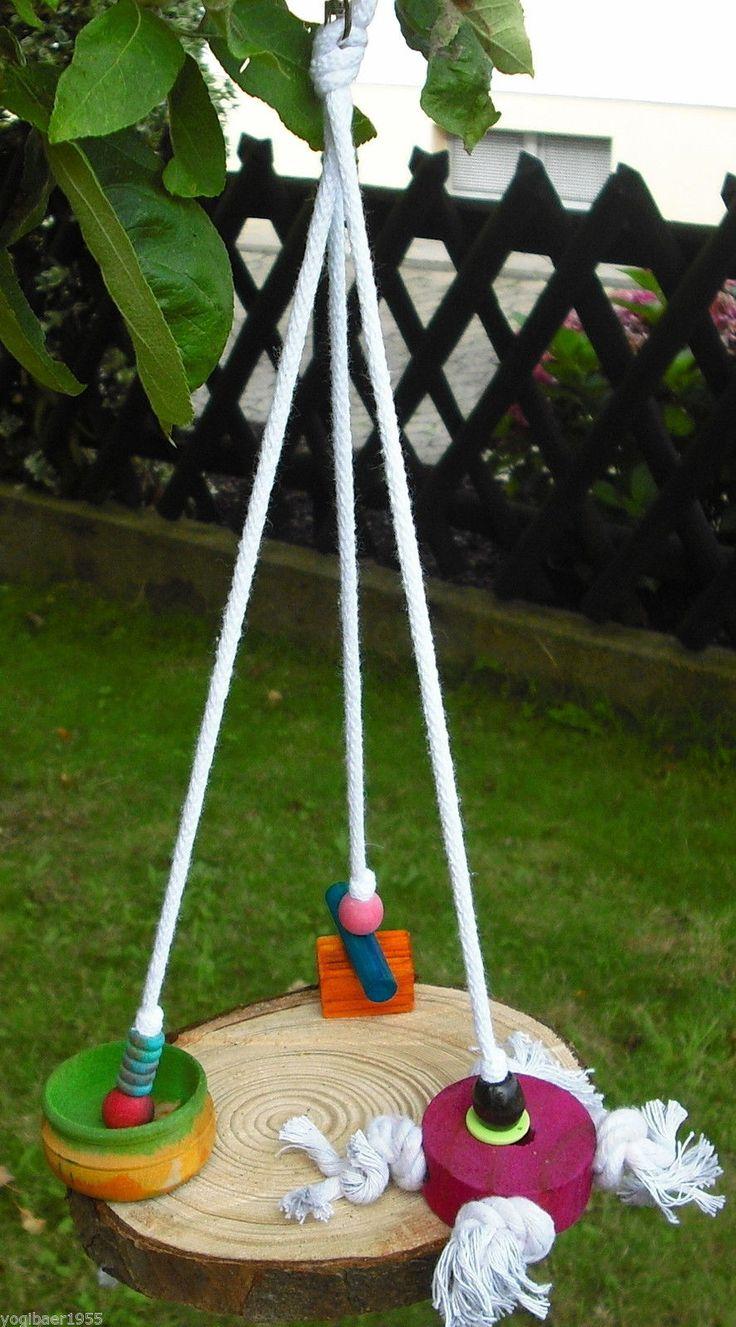Vogelspielzeug / Plateau-SCHAUKEL / Papageienspielzeug / SITTICH / Holzschaukel…