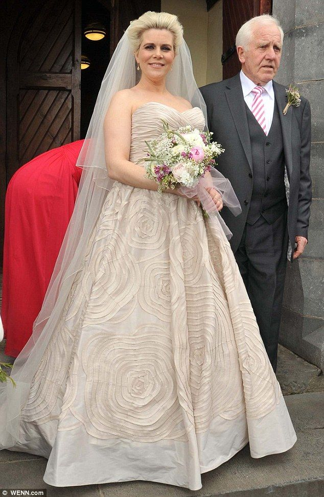 Denise Horan and her father after the ceremony.