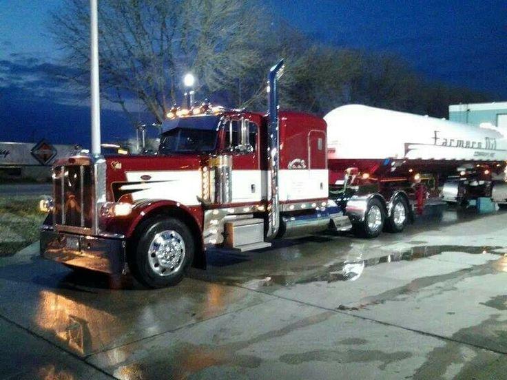 Semi Truck Oil : Farmers oil anthony ks beautiful fleet of trucks show