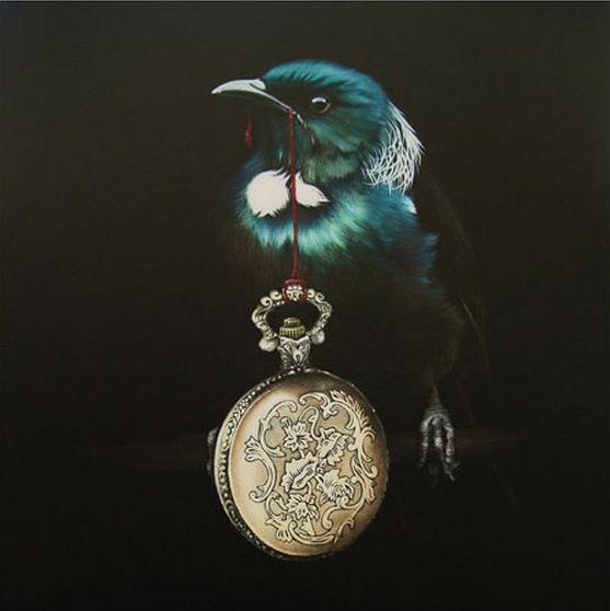 New Zealand Tui bird - 'Pandora's Locket' by Jane Crisp. imagevault.co.nz