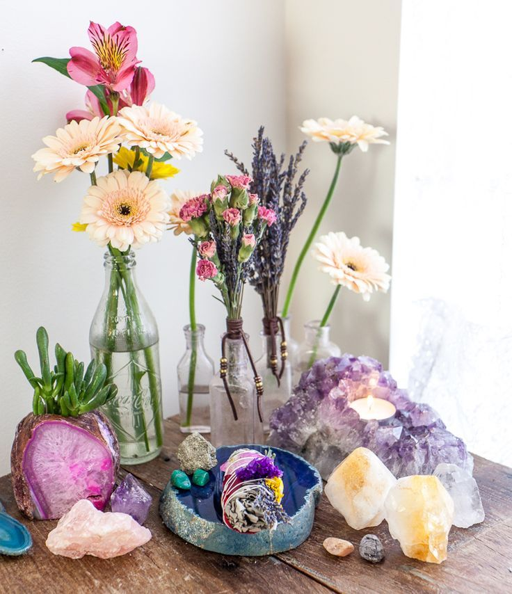Flowers, Crystals And Sacred Spaces: How To Create An Altar