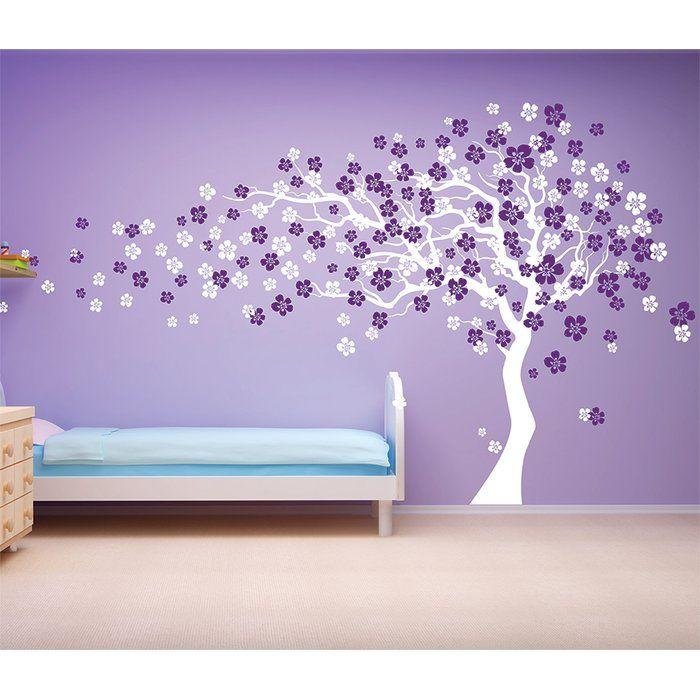 Cherry Blossom Tree Wall Decal Tree Wall Decal Vinyl Wall Art Decals Purple Walls