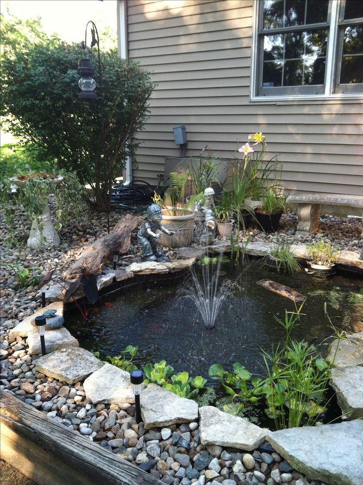 Diy koi pond koi pond water gardens fountains for Diy patio pond