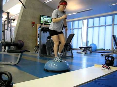 Speed Skaters need to have excellent balance. Take a look at some of these balance exercises that speed skaters do to improve their balancing skills. #CCOlympics #SpeedSkating #Sochi2014