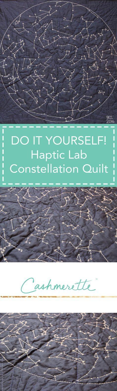 DIY Constellation Hand Quilt by Cashmerette