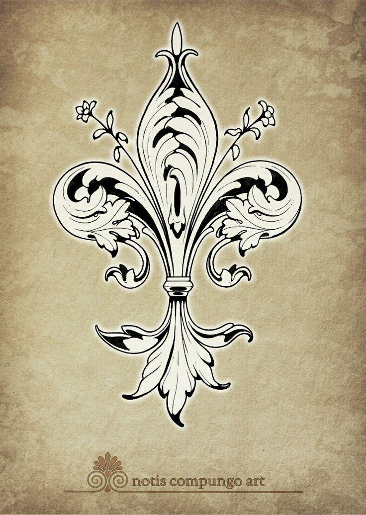 Baroque Fleur-de-lis
