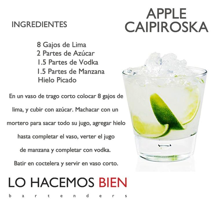 Apple Caipiroska - Festejá con Estilo! de LO HACEMOS BIEN bartendersComo preparar un Apple Caipiroska