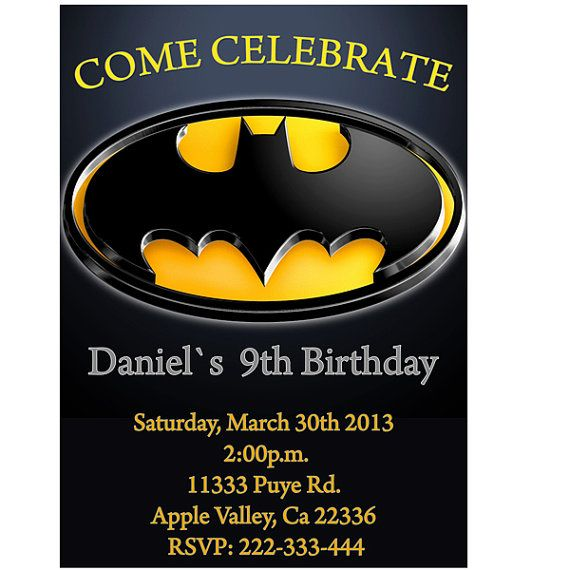 batman birthday party invitation printable by lululola2022