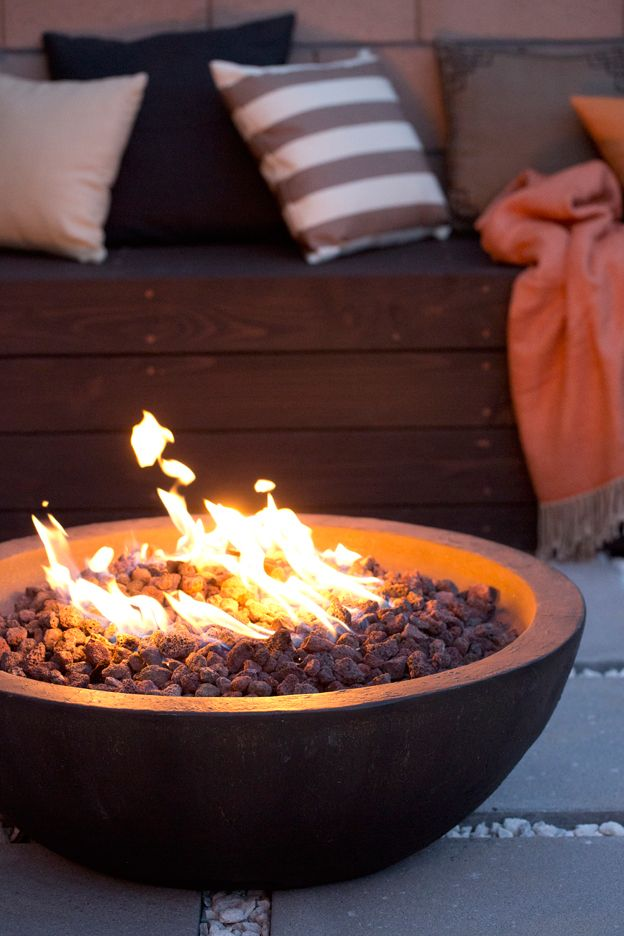 Turn your backyard into the perfect place for outdoor entertaining. Fire pits add a little ambiance to your evenings so you can cozy up and roast marshmallows with friends or family. Find yours at Home Depot.