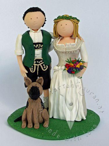 Trachten Brautpaare für die Hochzeitstorte - Hochzeitstortenfiguren