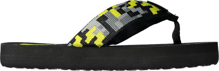 Teva Mush II Flip-Flops Digital Camo Black/Lime Kids 12