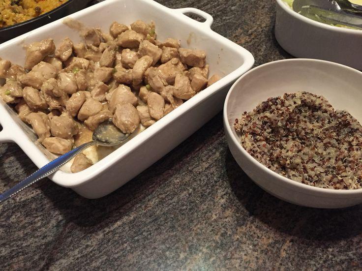 Honey & Lemon Chicken with Sesame Seeds & Quinoa!