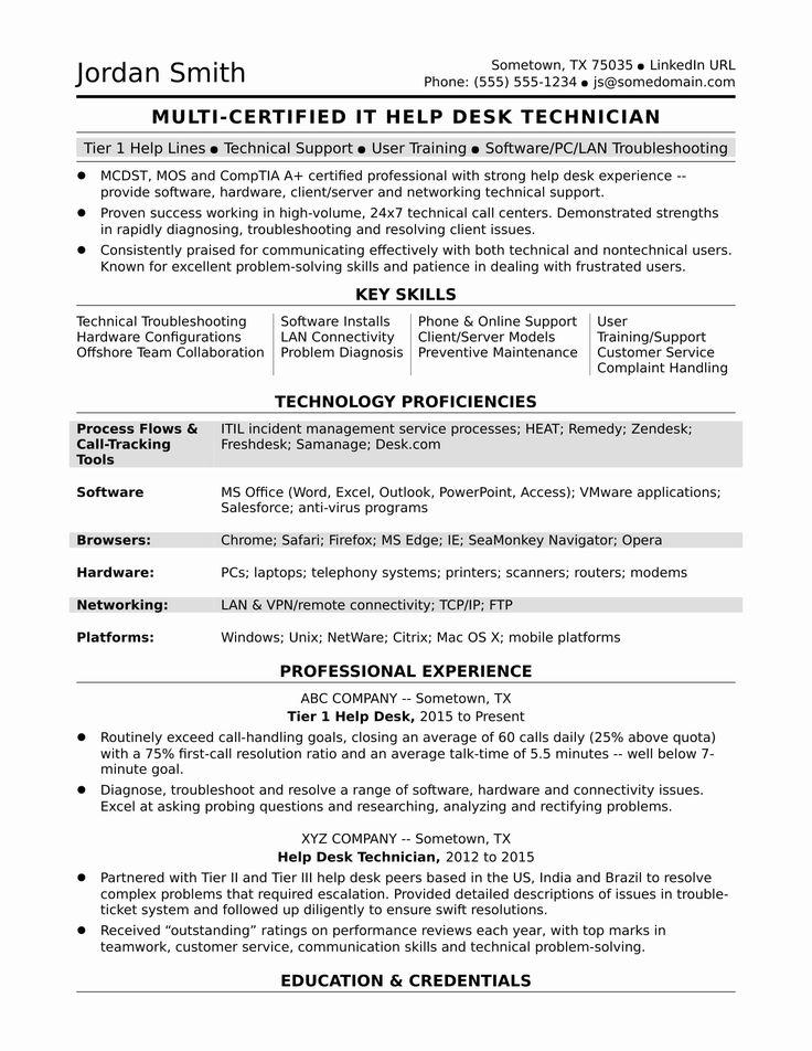 23 Help Desk Job Description Resume in 2020 (With images