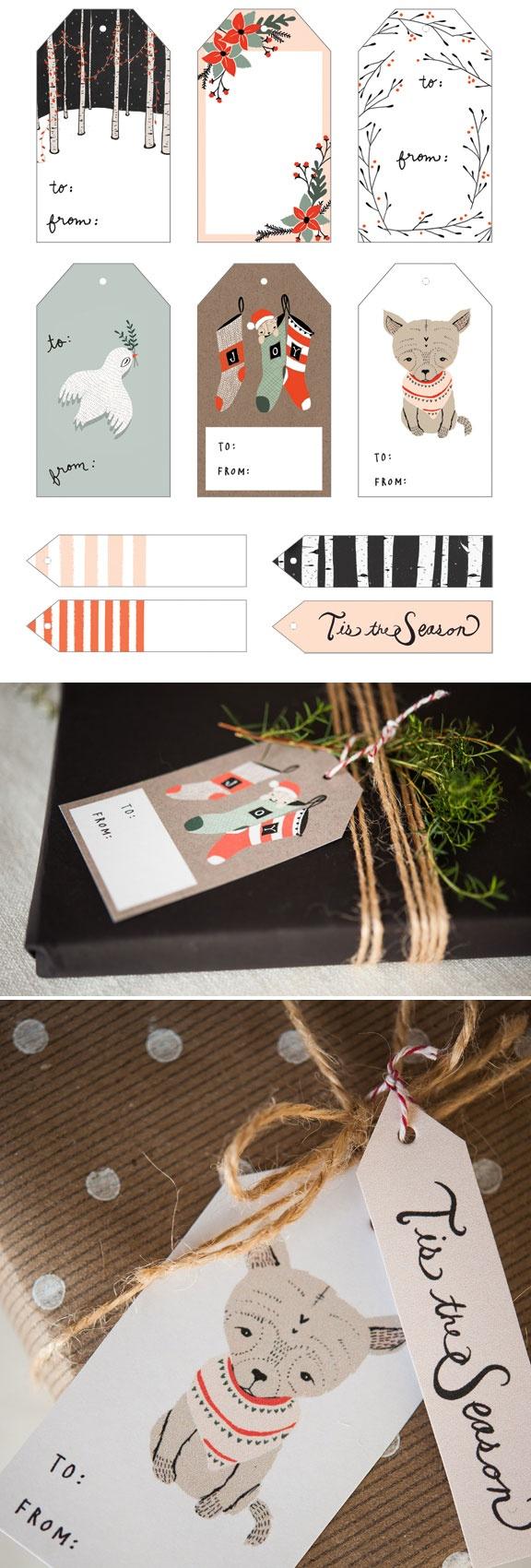 Yuletide Christmas Gift Tags - Free PDF Printable