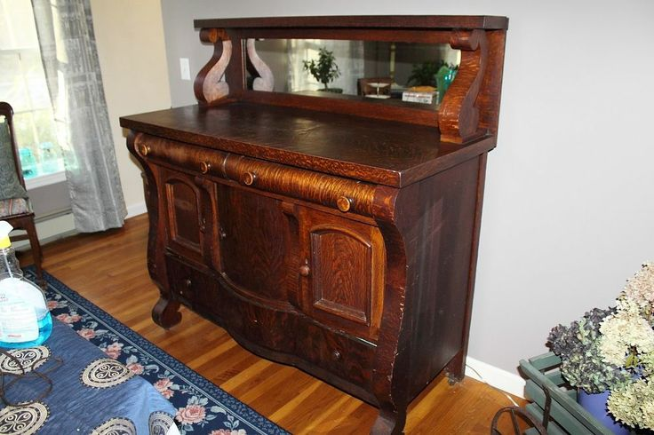antique oak buffet sideboard server 2