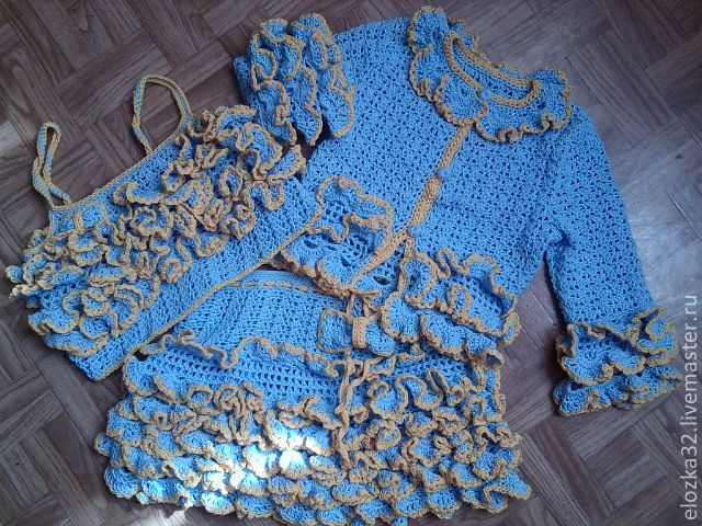 "Kostüm crochet ""Coquette"" Buy - Kroşe, örgü elbise, etek, örme üst"