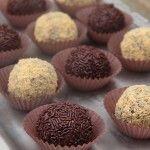 Trufas de chocolate fácil fáciles