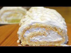 (95) Удачный бисквит для рулетов Не трескается, скручивать горячим не нужно! - YouTube