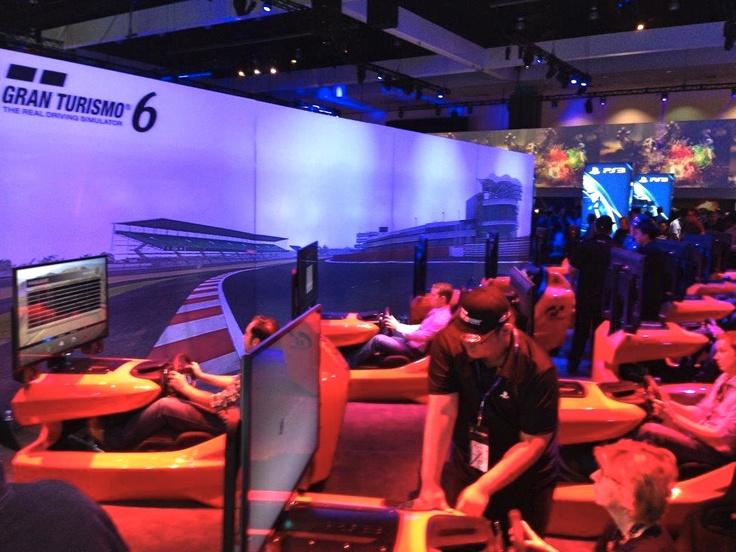 Testing Gran Turismo at E3, Kingdom Ridge Capital, Geeks on the Road, Los Angeles