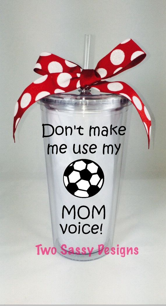 Soccer Mom Tumbler, Soccer Mom Cup by TwoSassyDesigns