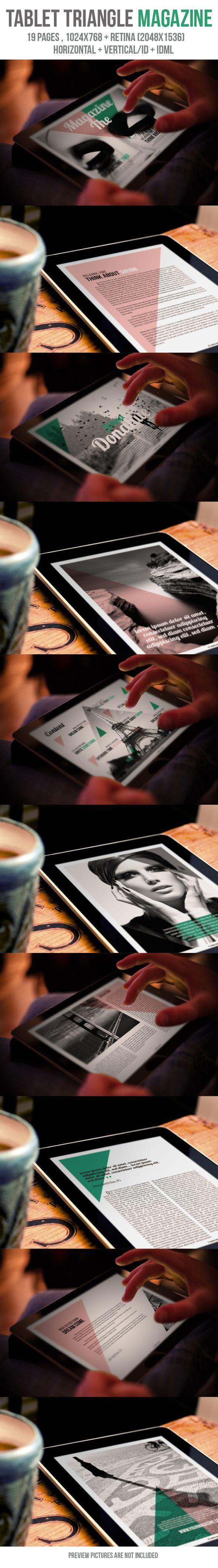 Tablet Triangle Magazine by crew55design, via Behance