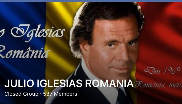MY GROUP FROM ROMANIA WITH JULIO IGLESIAS