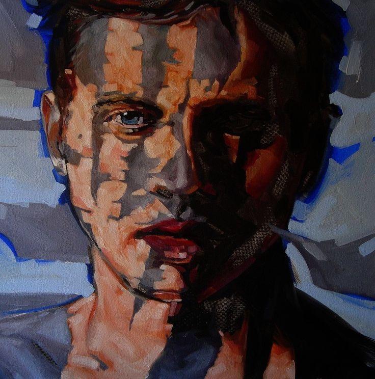 Tim =Tina 2015 by Corne Eksteen, Oil on canvas 600 x 600 mm