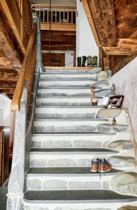 "This stone staircase is from our feature ""Alpine Approach"""