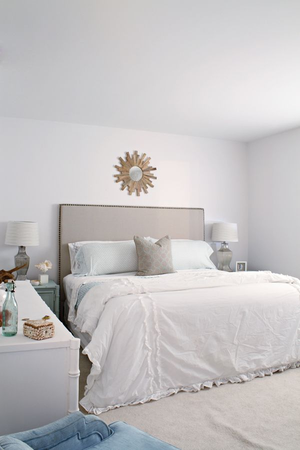 Coastal Bedroom Updates Wall Color Snowbound Sherwin